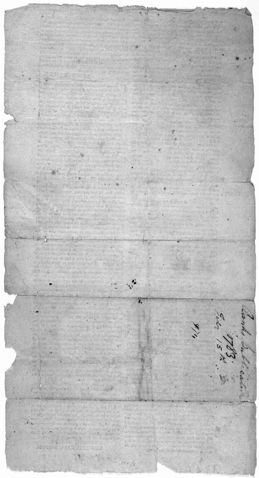 [Statement by John Banks regarding General Nathaniel Greene, beginning] Whatever opinions prevail with the public ... [Followed by statement by Anthony Wayne and Edward Carrington regarding Nathaniel Green] [Dated in manuscript. Feb. 15, 1783].