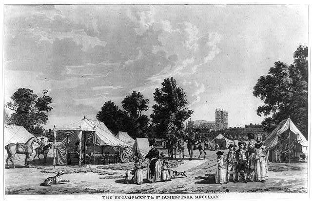 The encampment in St. James's Park MDCCLXXX
