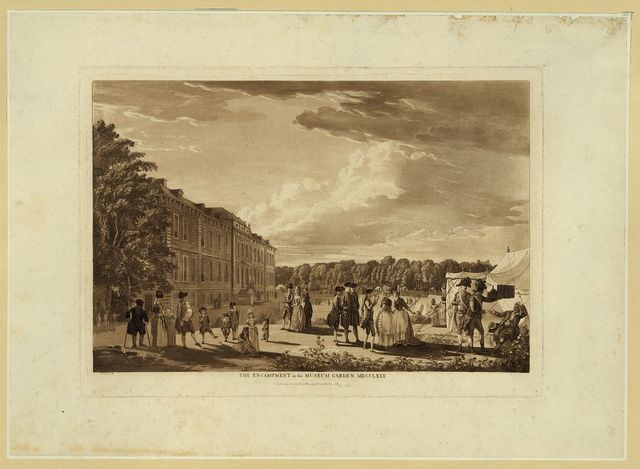 The encampment in the museum garden MDCCLXXX / N' P. Sandby f.
