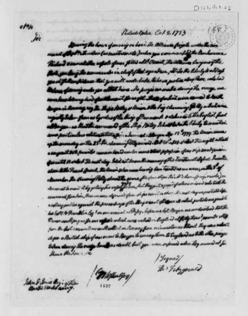 Thomas Fitzgerald to John Paul Jones, October 2, 1783