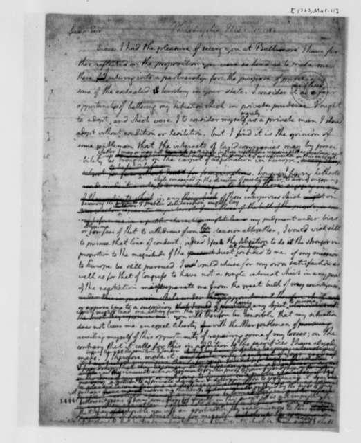 Thomas Jefferson to Abner Nash, March 11, 1783