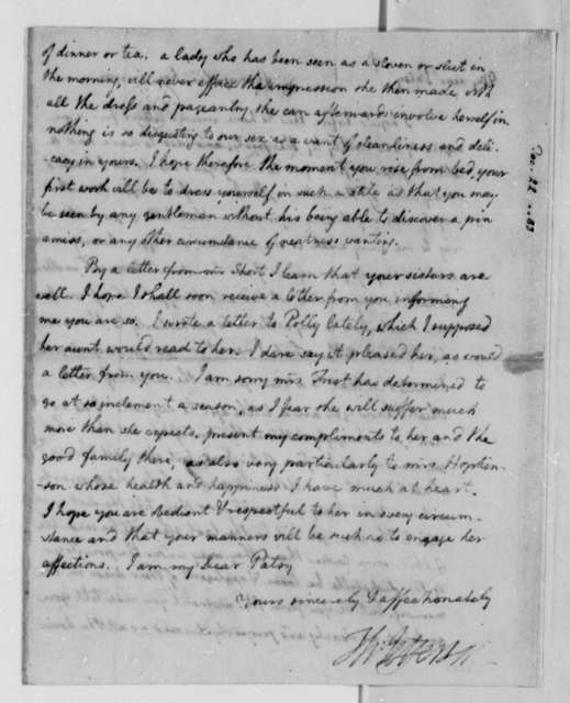 Thomas Jefferson to Martha (Patsy) Jefferson, December 22, 1783