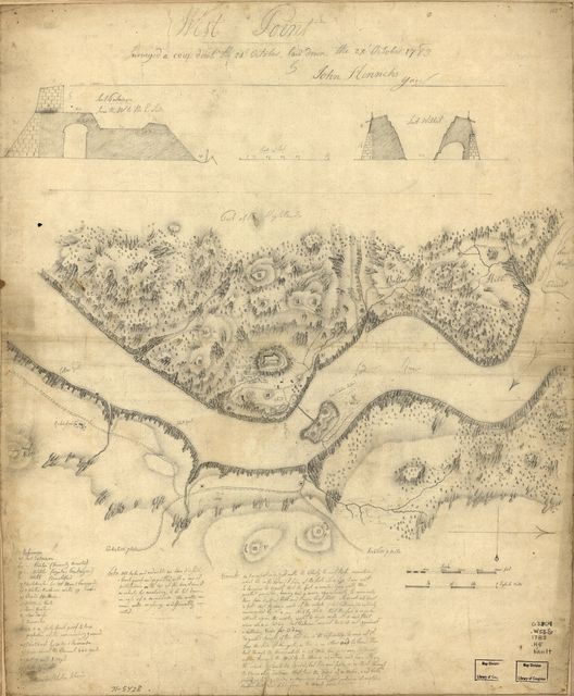 West Point, surveyed a coup d'oeil the 24th October, laid down the 27th October 1783.