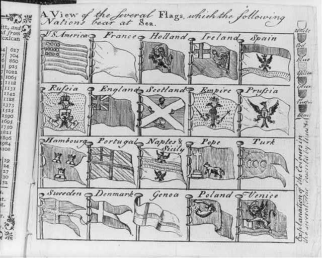 A view of the several flags which the following nations bear at sea ...
