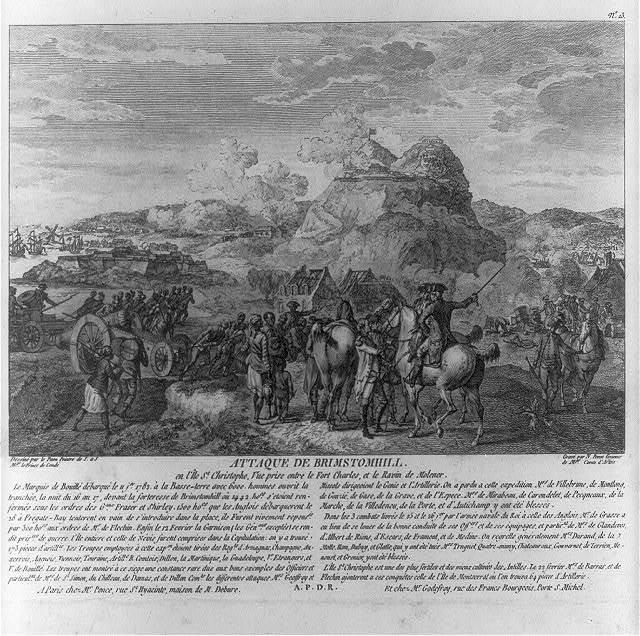 Attaque de Brimstomhill / dessiné par le Paon peintre de S. a S. Mgr. le Prince de Condé ; gravé par N. Ponce graveur de Mgr. Comte d'Artois.