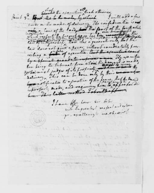 Edmund Randolph to Benjamin Harrison, January 21, 1784.