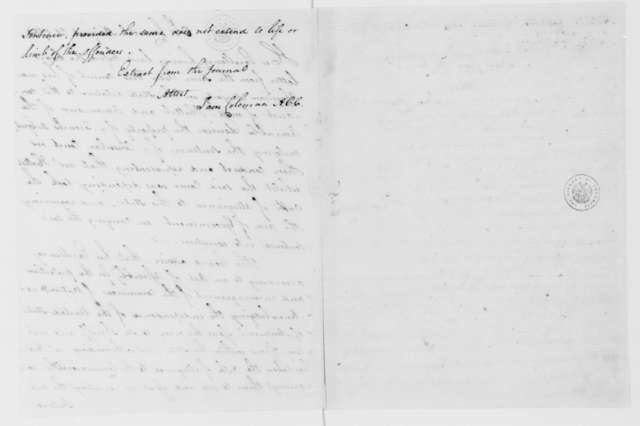 Extract from Journal of the Virginia Council on Ha, August 20, 1784.