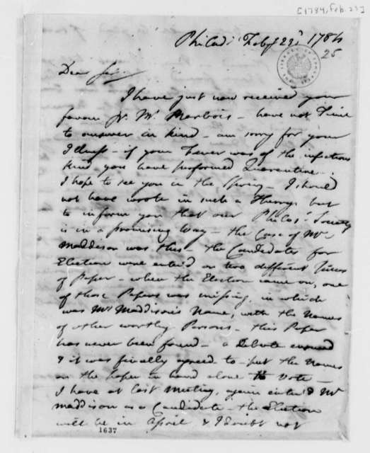 Francis Hopkinson to Thomas Jefferson, February 23, 1784