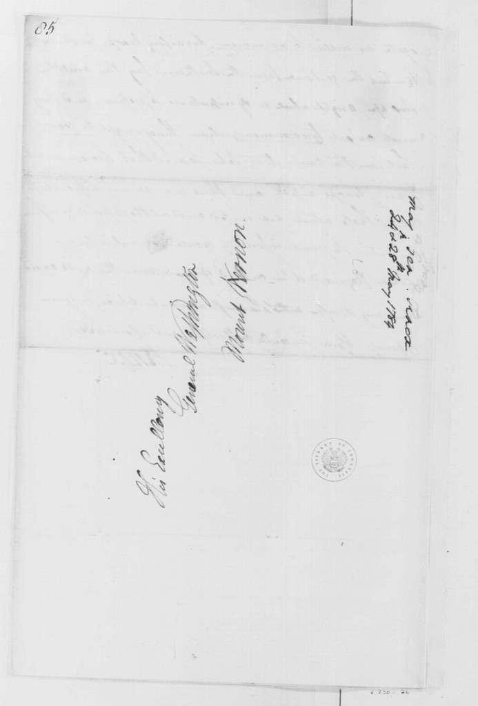 George Washington Papers, Series 4, General Correspondence: Henry Knox to George Washington, May 24, 1784