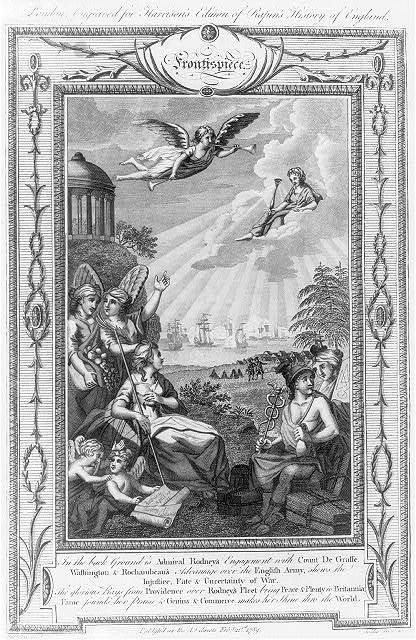 In the background is Admiral Rodney's engagement with Count de Grasse ... / Harrison invt. ; Goldar del. et sc.