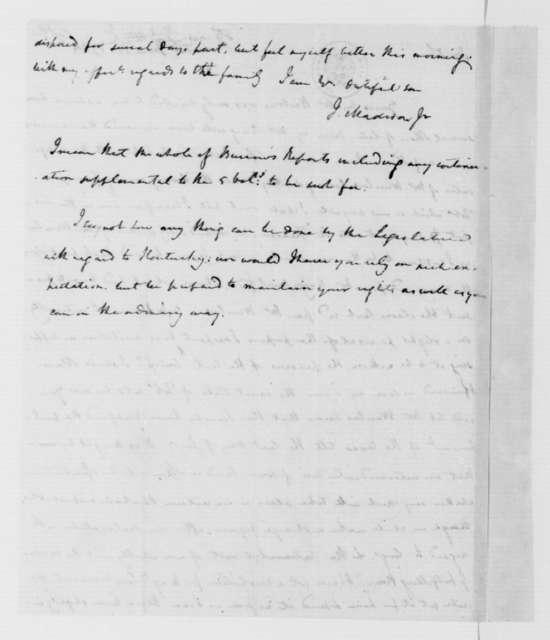 James Madison to James Madison Sr., June 5, 1784.