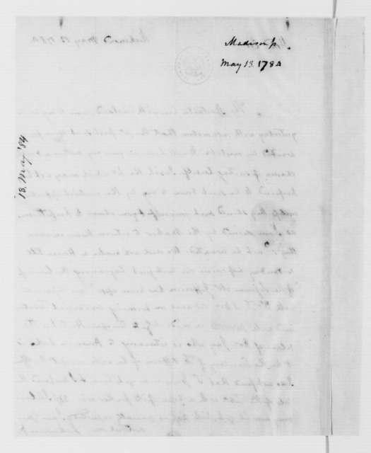 James Madison to James Madison Sr., May 13, 1784.
