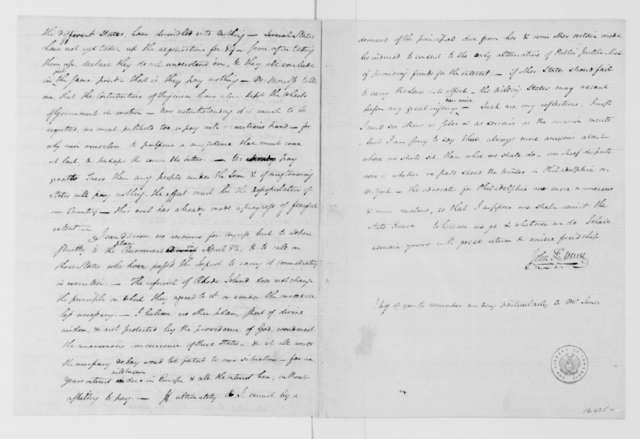 John Francis Mercer to James Madison, November 12, 1784. with Enclosure to Jacquelin Ambler.