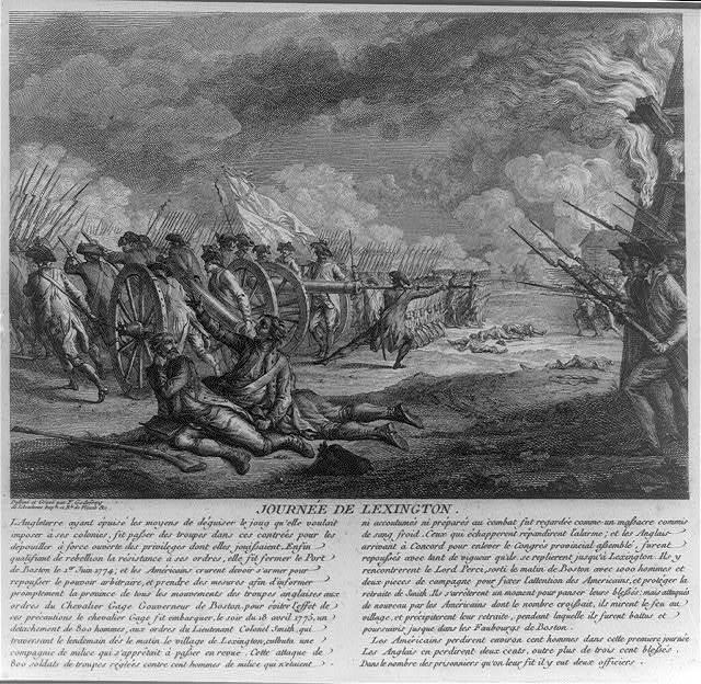 Journée de Lexington / dessiné et gravé par F. Godefroy de l'Académie Imple. et Rle. de Vienne &c.