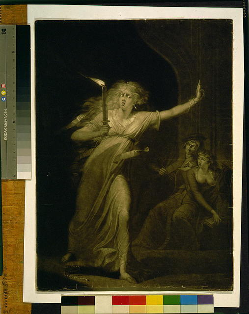 [Lady MacBeth] [Act, 5th--'One, two; why then 'tis time to do't / / painted by H. Fuseli ; engrved by J.R. Smith].