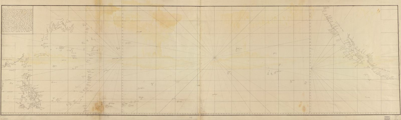 [Map of Pacific Ocean between the coast of California and Mexico and Japan, Philippines, and the coast of China].