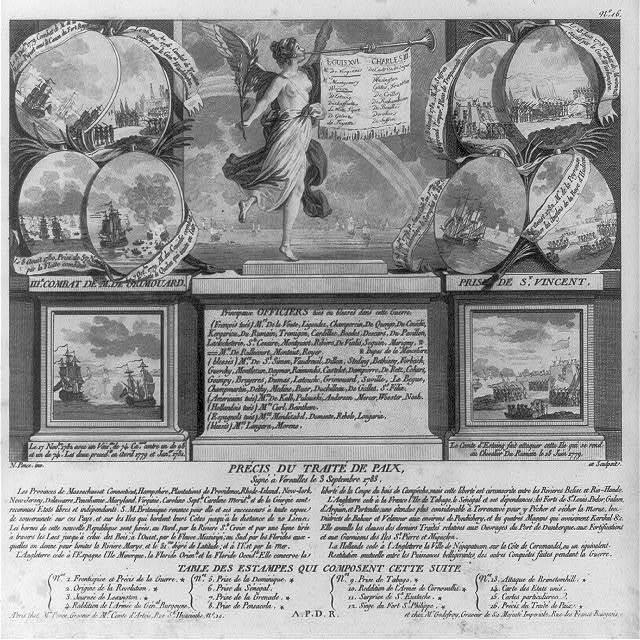 Précis du traité de paix, signé à Versailles le 3 Septembre 1783 / N. Ponce, inv. et sculpsit.