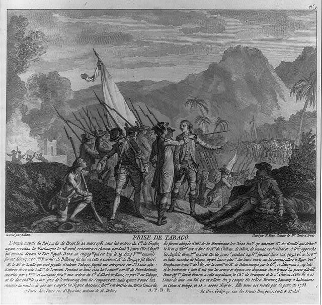 Prise de Tabago / dessiné par William ; gravé par N. Ponce, graveur de Mgr. Comte d'Artois.
