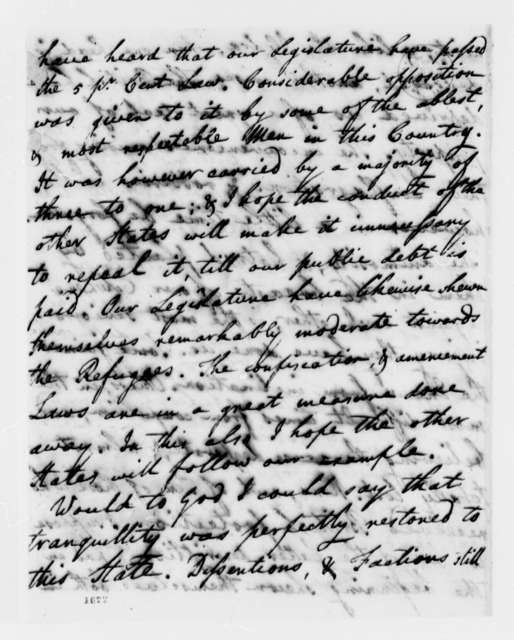 Ralph Izard to Thomas Jefferson, April 27, 1784