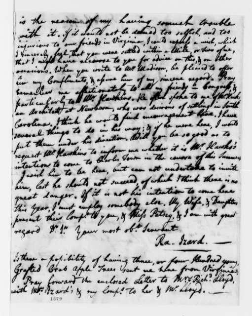 Ralph Izard to Thomas Jefferson, April 27, 1784