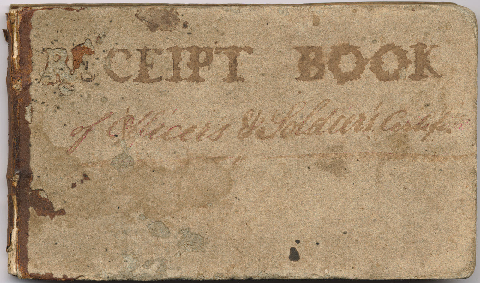 Receipt book for officer and soldier's certificates, Illinois Grant