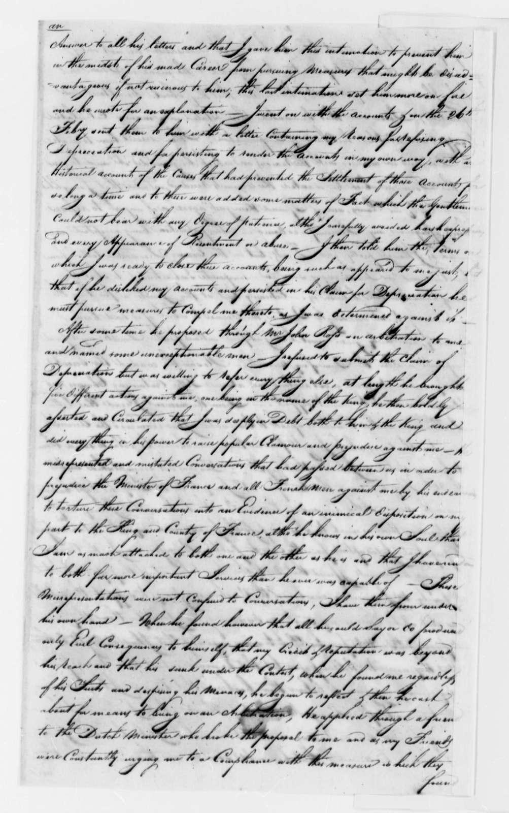 Robert Morris to John Rucker, June 14, 1784