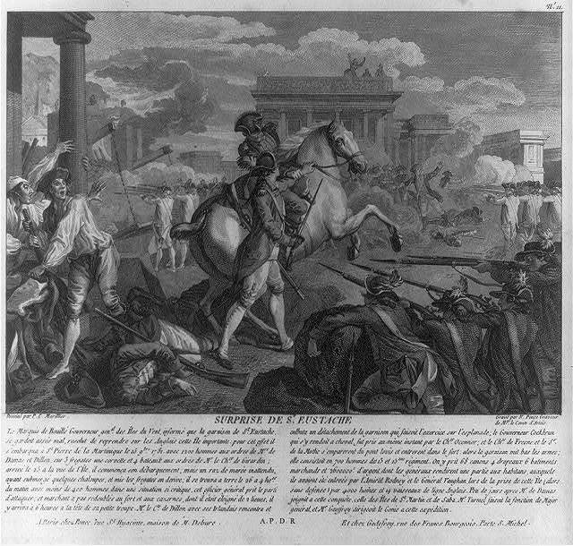 Suprise de St. Eustace / dessiné par P.C. Marillier ; gravé par N. Ponce, graveur de Mgr. le Comte d'Artois.
