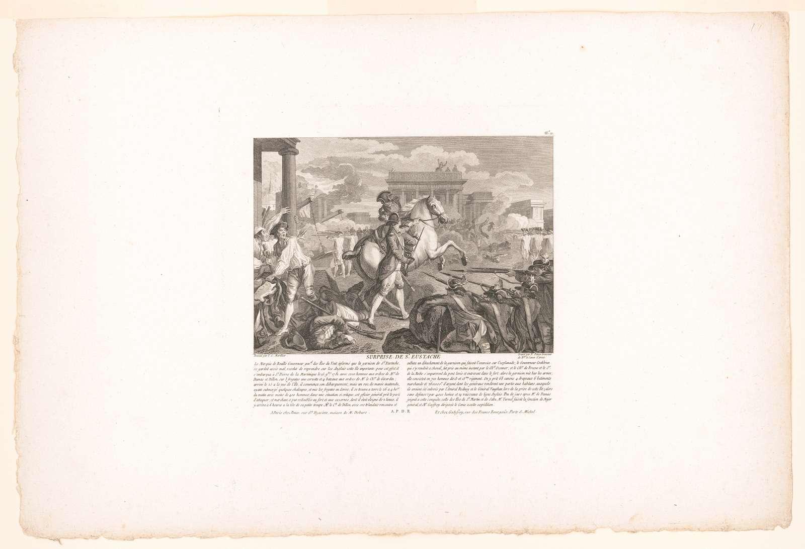 Suprise de St. Eustache dessiné par P.C. Marillier ; gravé par N. Ponce, Graveur de Mgr. le Comte d'Artois