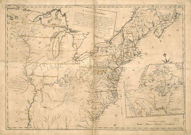 The United States according to the definitive treaty of peace signed at Paris Sept. 3d. 1783.