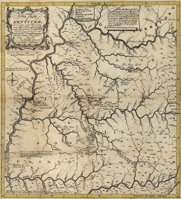 This map of Kentucke : drawn from actual observations, is inscribed with the most perfect respect, to the honorable congress of the United States of America, and to His Excell'cy George Washington, late commander in chief of their army /