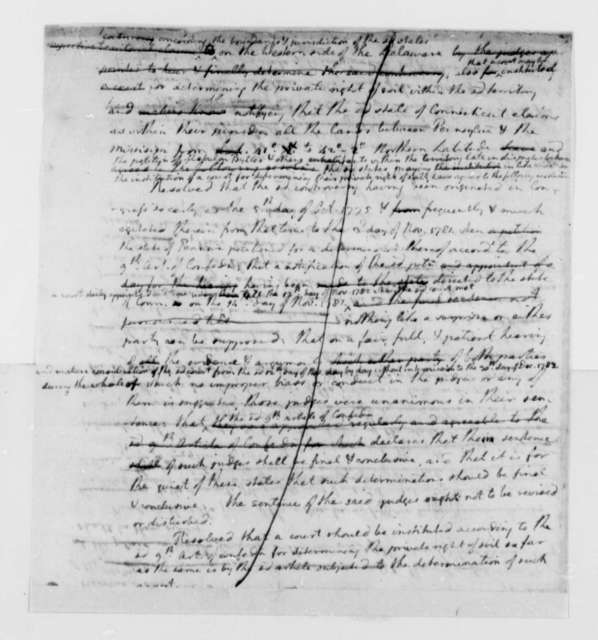 United States Congress, 1784, Drafts of Resolutions on Connecticut, Pennsylvania Territorial Dispute