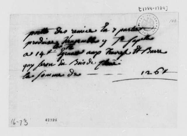 Unknown to Marie Joseph Paul Yves Roch Gilbert du Motier, Marquis de Lafayette, 1784-89, in French