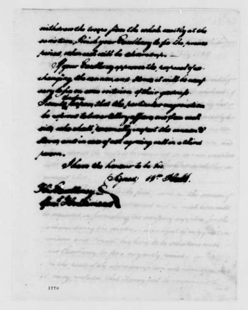 William Hull to Frederick Haldimand, July 12, 1784