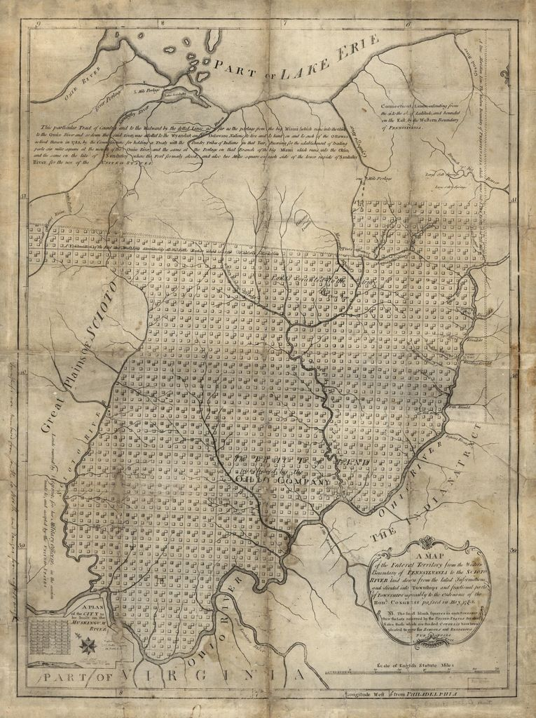 A map of the Federal Territory from the western boundary of Pennsylvania to the Scioto River