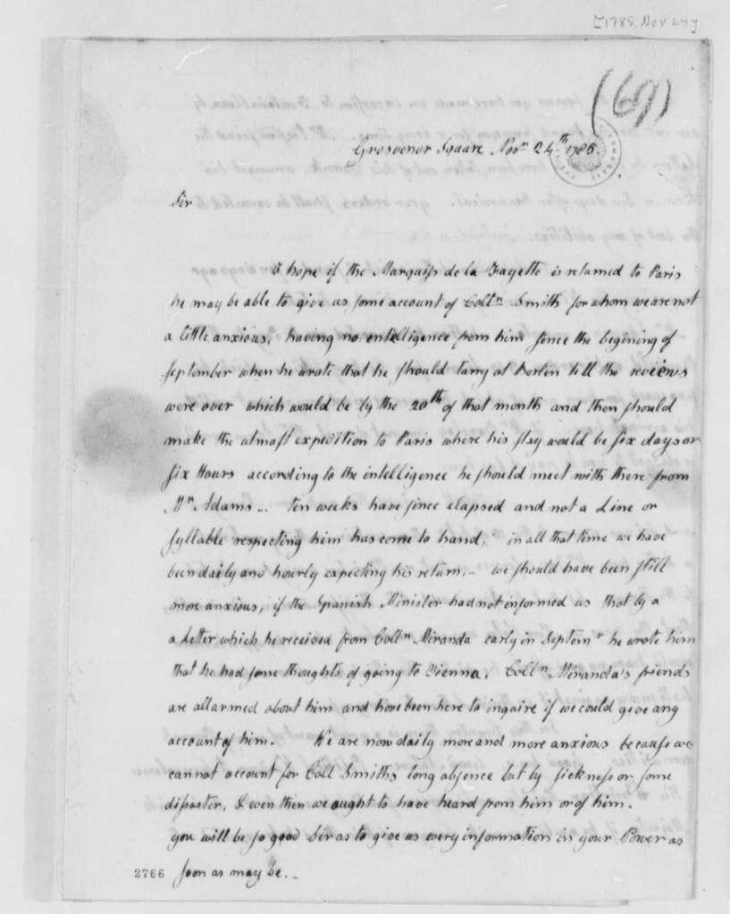 Abigail Smith Adams to Thomas Jefferson, November 24, 1785
