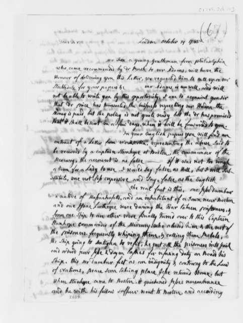 Abigail Smith Adams to Thomas Jefferson, October 19, 1785
