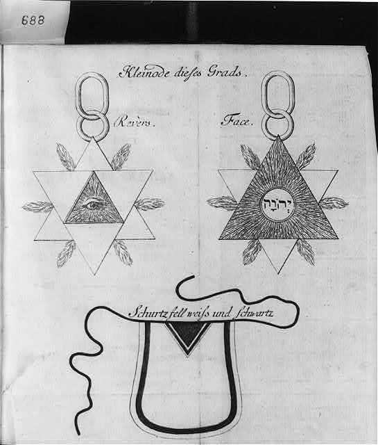 Allegorical diagrams representing 2d Degree of Rosicrucians: Kleinode dieses Grads