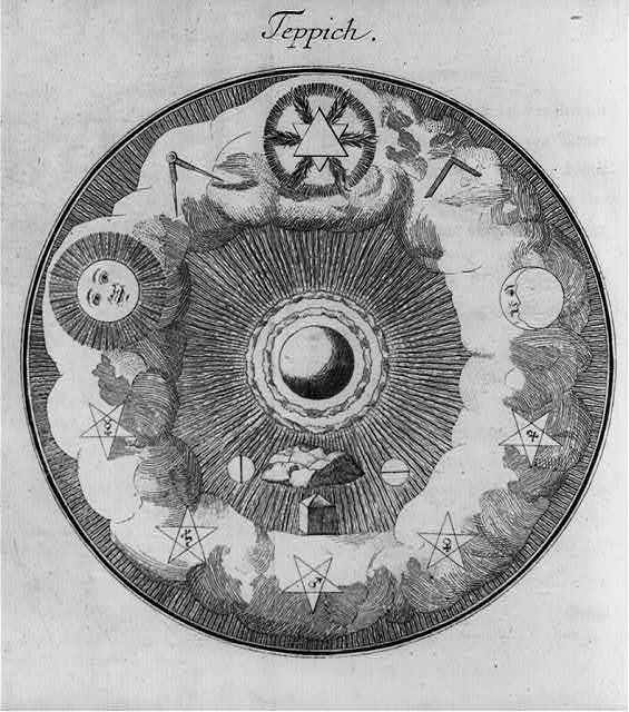 Allegorical diagrams representing 2d Degree of Rosicrucians: Teppich