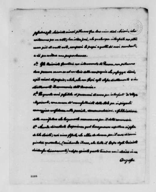 Ambrose de Stolendorg, George Simpson, et al, July 27, 1785, Commercial Treaty between Trieste and Philadelphia; in Italian