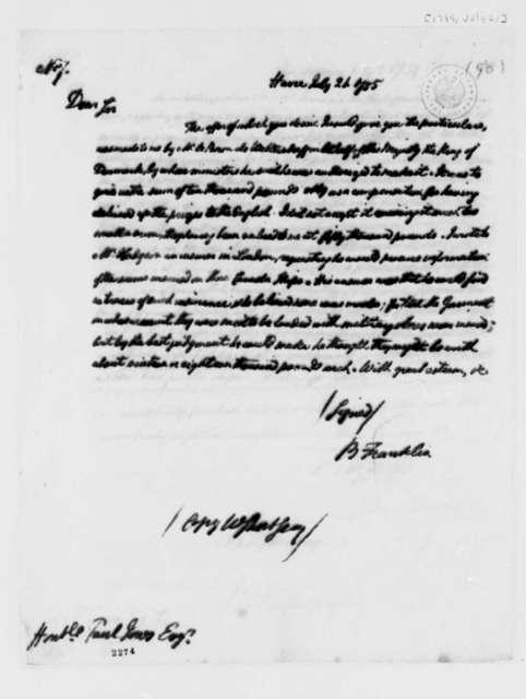 Benjamin Franklin to John Paul Jones, July 20, 1785