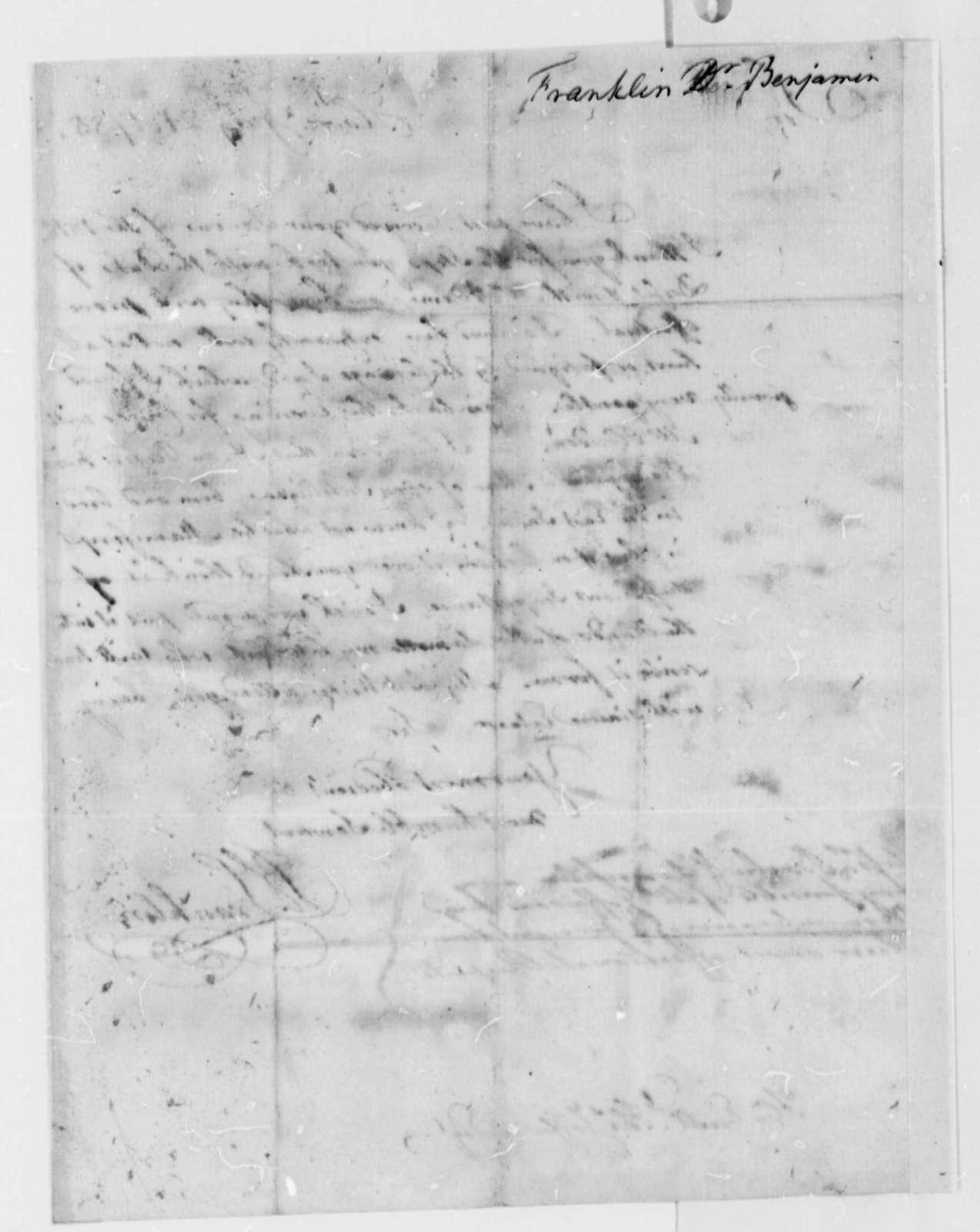 Benjamin Franklin to Thomas Jefferson, July 21, 1785
