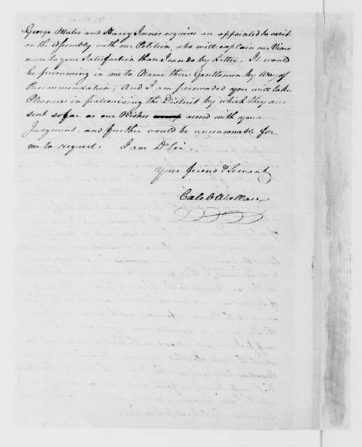 Caleb Wallace to James Madison, September 25, 1785.