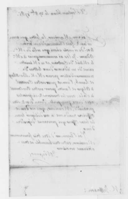 Charles, Marquis de Castries to Thomas Jefferson, October 28, 1785, in French