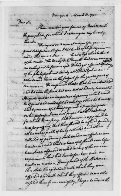 Charles Thomson to Thomas Jefferson, March 6, 1785