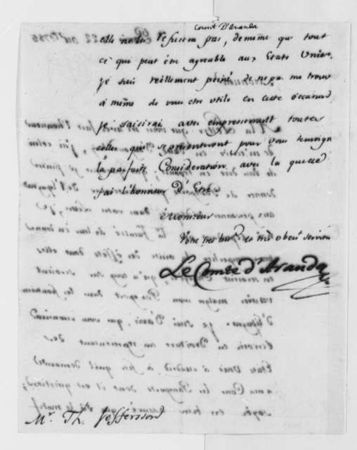 Conde d'Aranda to Thomas Jefferson, October 22, 1785