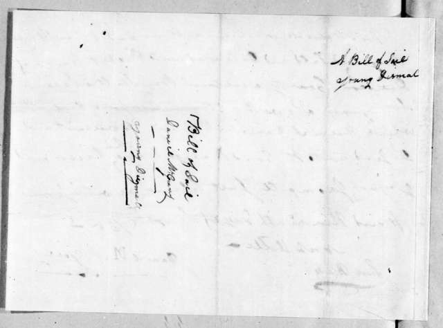 Daniel McGeary to Robert Hays, September 9, 1785