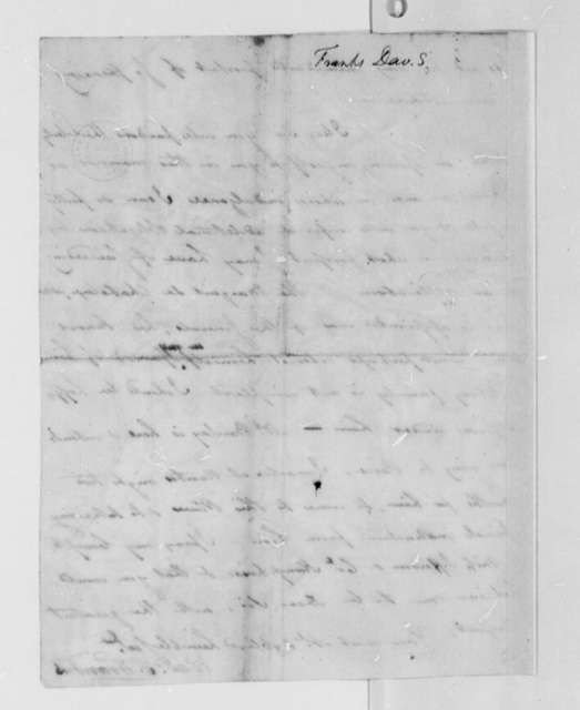 David S. Franks to Thomas Jefferson, January 1, 1785