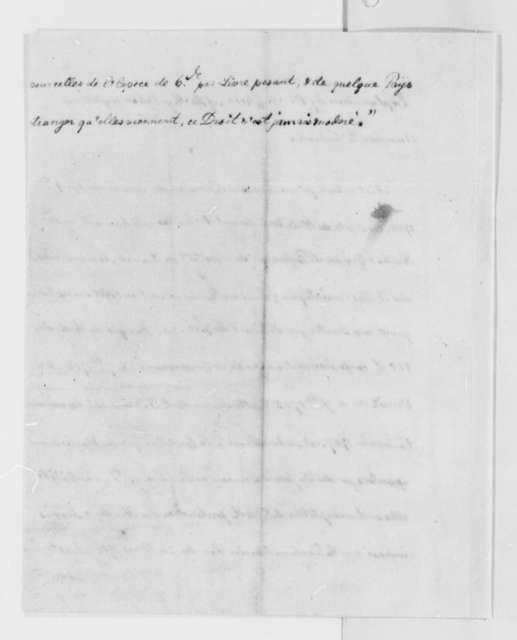 de Colonia, 1785, Explanation of Regulations Affecting American Whale Oil Trade; Extract in French
