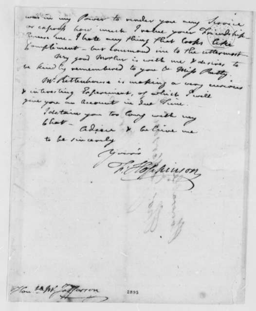 Francis Hopkinson to Thomas Jefferson, December 31, 1785