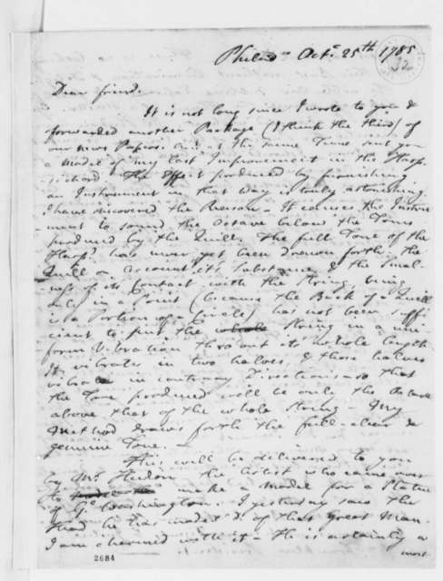 Francis Hopkinson to Thomas Jefferson, October 25, 1785